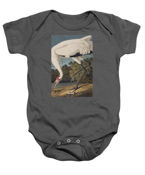 Whooping Crane Baby Onesie by John James Audubon