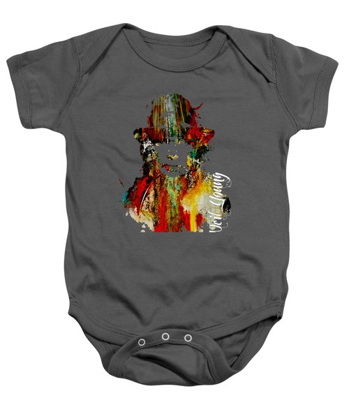 Neil Young Collection Baby Onesie by Marvin Blaine