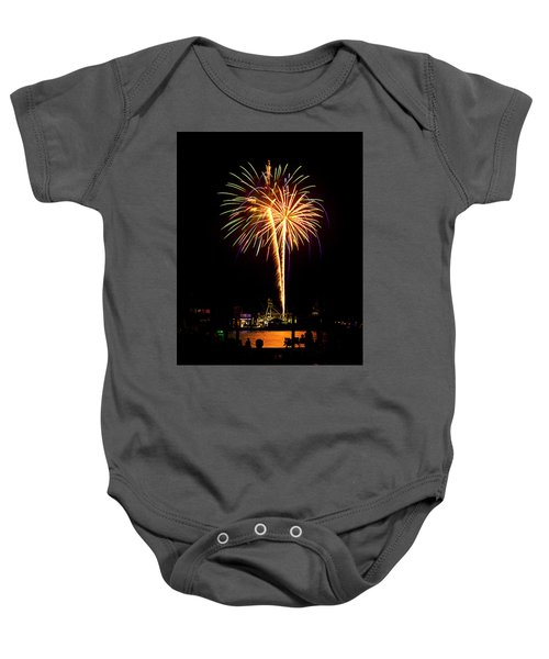 4th Of July Fireworks Baby Onesie by Bill Barber