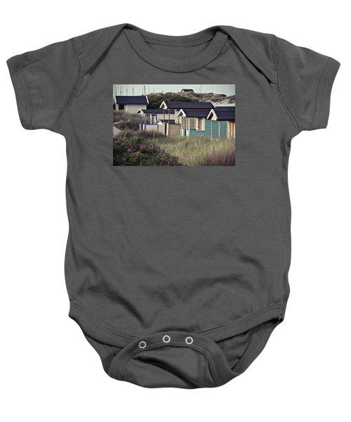 Beach Houses And Dunes Baby Onesie