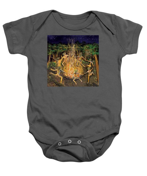 Dancing Naked In The Forest Cd Cover Baby Onesie