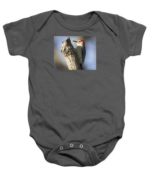 Red-bellied Woodpecker Baby Onesie by Ricky L Jones