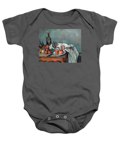 Still Life With Onions Baby Onesie