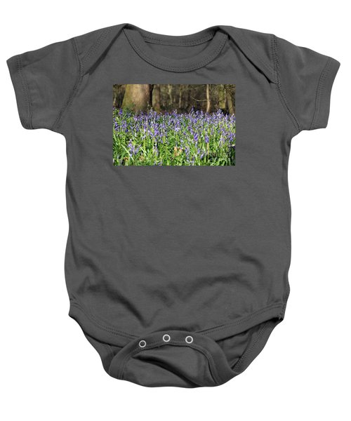 Bluebells At Banstead Wood Surrey Uk Baby Onesie