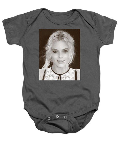 Actress Margot Robbie Baby Onesie by Best Actors