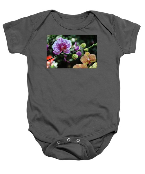 Butterfly Orchid Flowers Baby Onesie