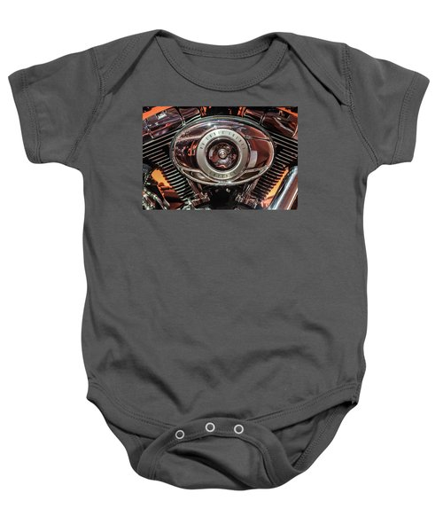 Baby Onesie featuring the photograph 96 Cubic Inches Softail by Randy Scherkenbach