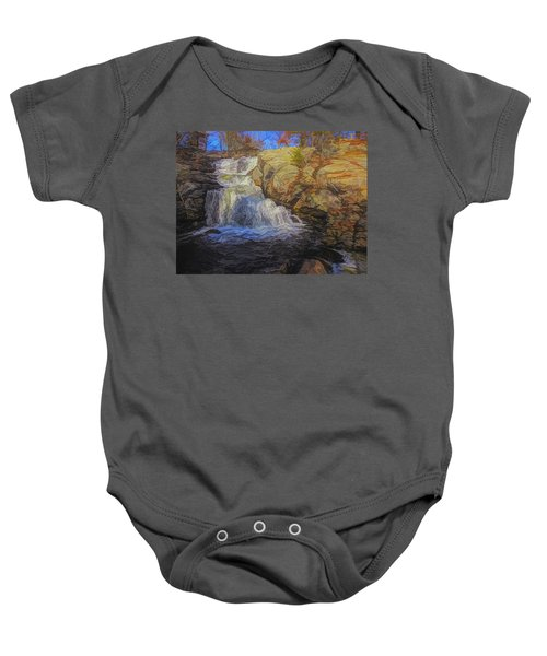 A Beautiful Connecticut Waterfall. Baby Onesie