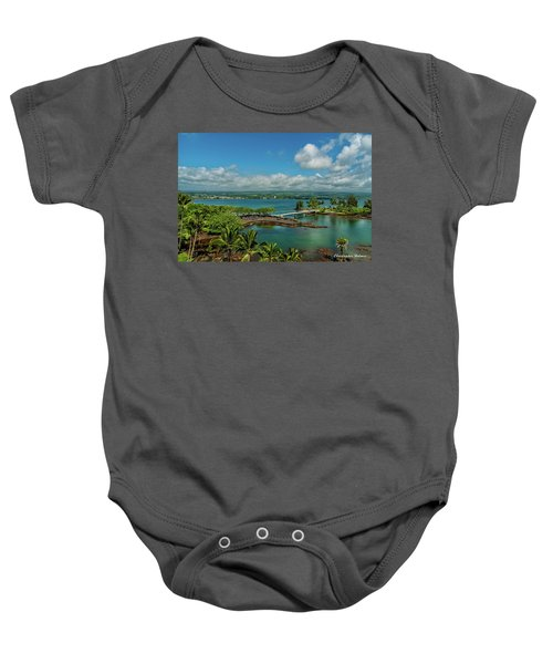 A Beautiful Day Over Hilo Bay Baby Onesie