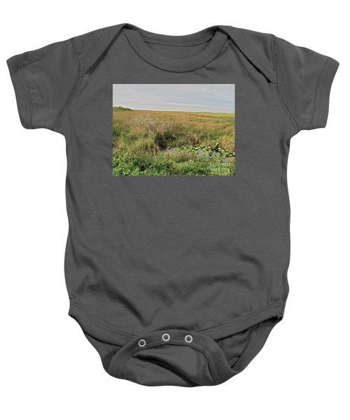 A Blue Heron Among The Glades Baby Onesie