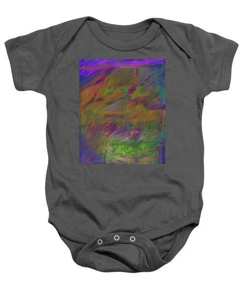 A Brush With The Edge Baby Onesie