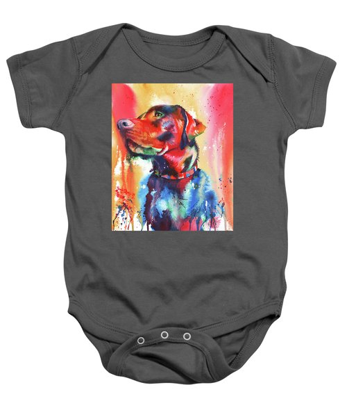 A Coat Of Many Colours - Labrador Baby Onesie
