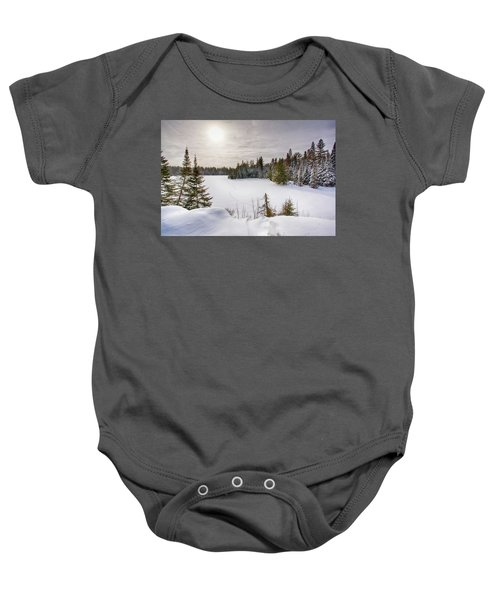 A Cold Algonquin Winters Days  Baby Onesie