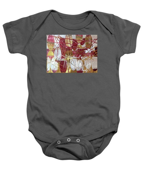 A Dance Of Rubies And Old Gold Baby Onesie