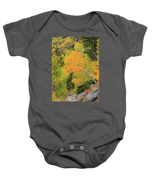 Yellow Drop Baby Onesie by David Chandler