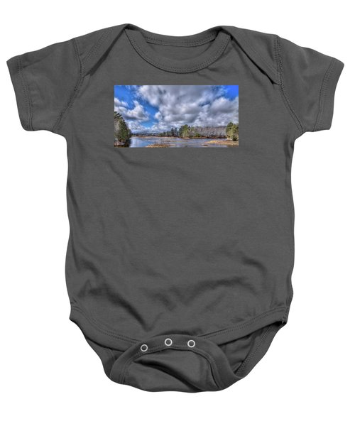 Baby Onesie featuring the photograph A Dusting Of Snow by David Patterson