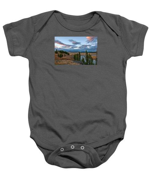 A Fall Evening In Hayden Valley Baby Onesie