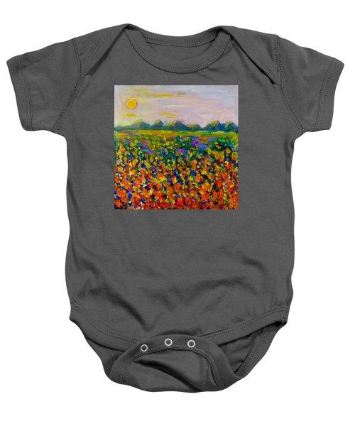 A Field Of Flowers #1 Baby Onesie