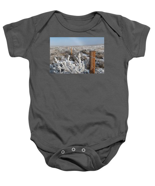 A Frosty And Foggy Morning On The Way To Steamboat Springs Baby Onesie