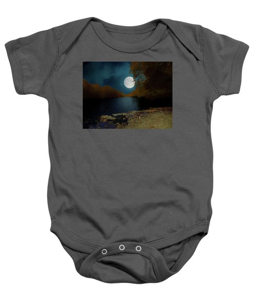 A Full Moon On A River. Baby Onesie