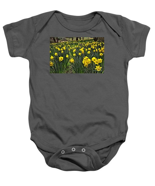 A Host Of Golden Daffodils Baby Onesie