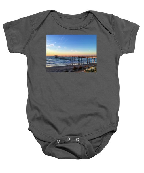 A Long Look At Scripps Pier At Sunset Baby Onesie