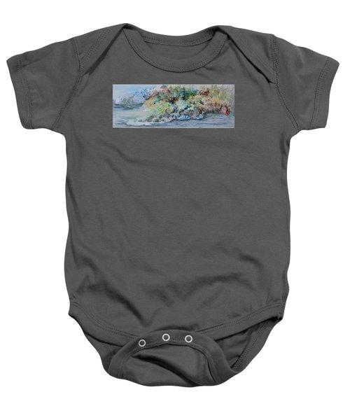 A Northern Shoreline Baby Onesie