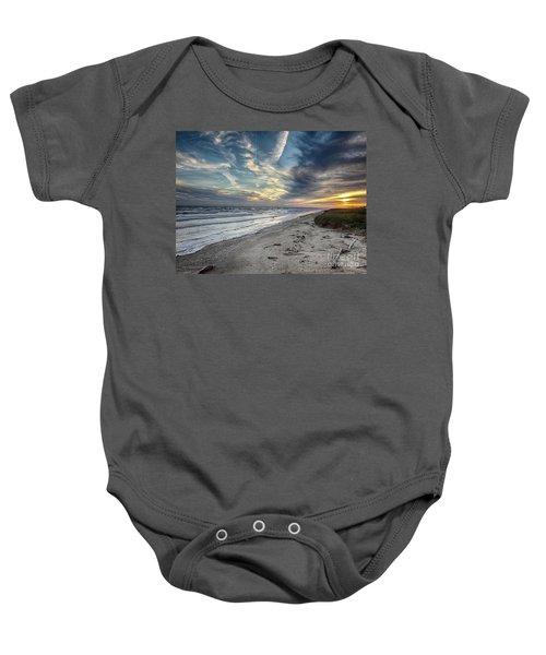 A Peaceful Beach Sunset Baby Onesie