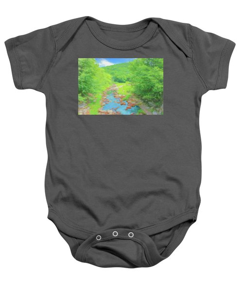 A Peaceful Summer Day In Southern Vermont. Baby Onesie