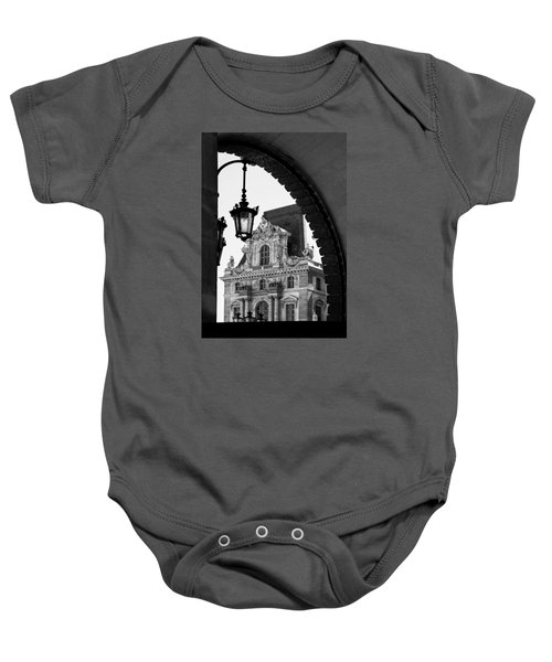 A Peak To The Louvre Baby Onesie