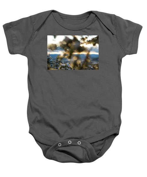 A Peek At Taos Mesa Baby Onesie