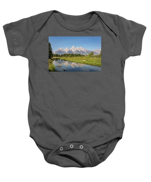 A Reflection Of The Tetons Baby Onesie