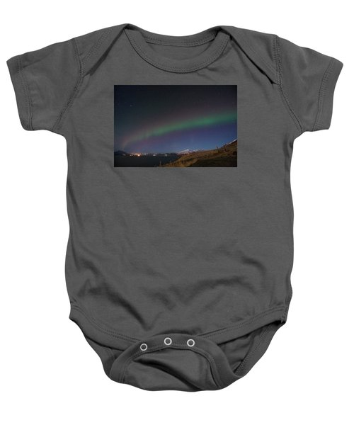 A Ribbon Of Northern Lights Baby Onesie