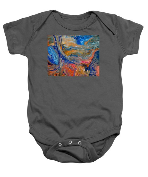 A River Runs Through It Baby Onesie