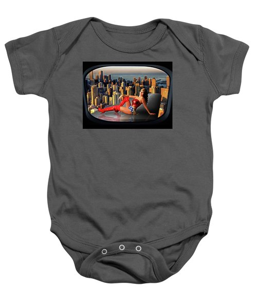A Seat With A View Baby Onesie