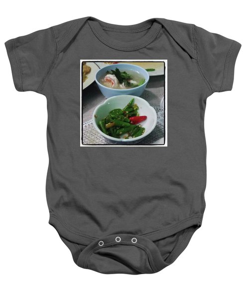 Baby Onesie featuring the photograph A Side Of Tom Yum Goon With Your by Mr Photojimsf