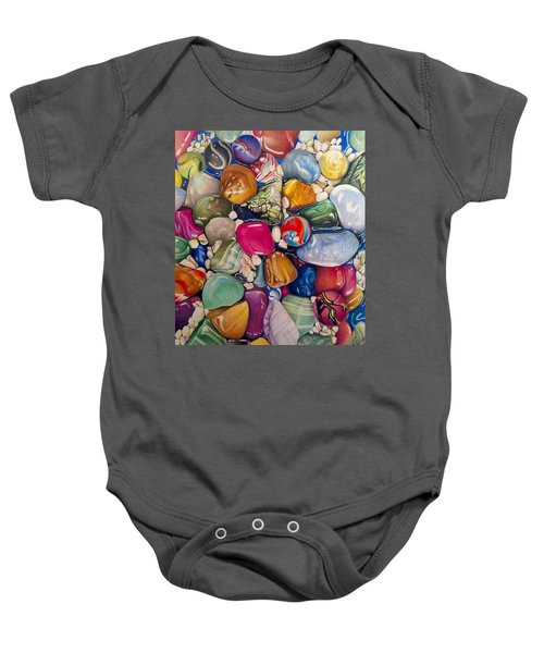A Splash Of Color And Hardness Baby Onesie