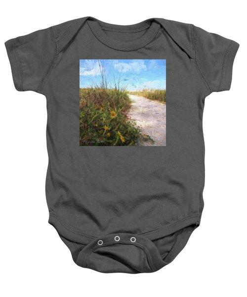 A Trail To The Beach Baby Onesie