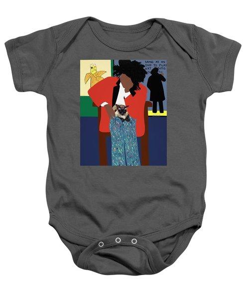A Tribute To Jean-michel Basquiat Baby Onesie