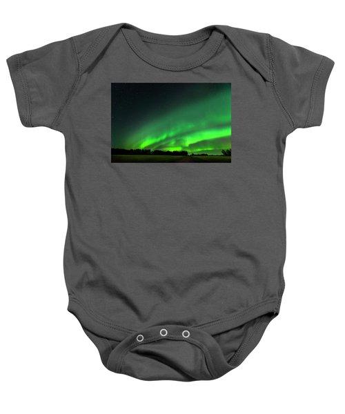 A Tsunami Of Green Baby Onesie