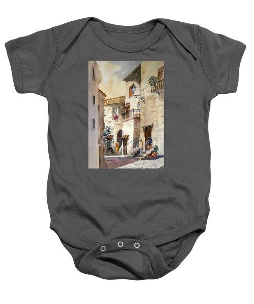 A Tuscan Street Scene Baby Onesie