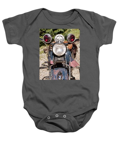 A Very Old Indian Harley-davidson Baby Onesie by James BO  Insogna