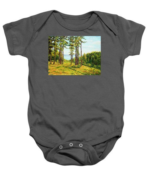 A View To The Lake Baby Onesie