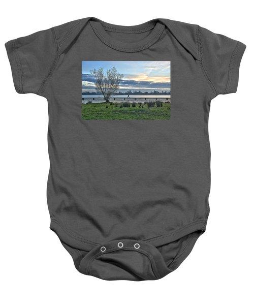 A Walk Through The Lake Baby Onesie