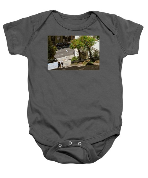 A Walk Up Joice St Steps Baby Onesie