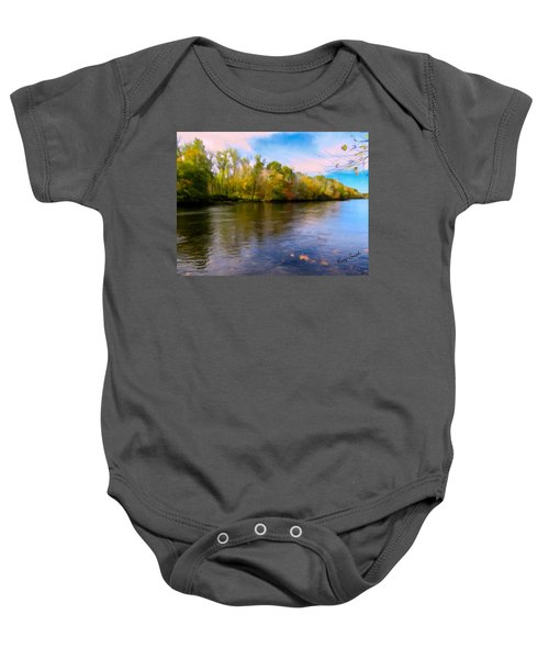 A Wide Scenic View Of Shetucket River. Baby Onesie
