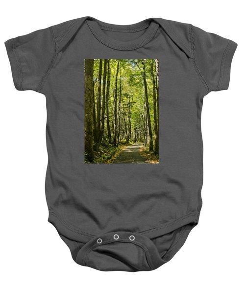 A Woodsy Trail Baby Onesie