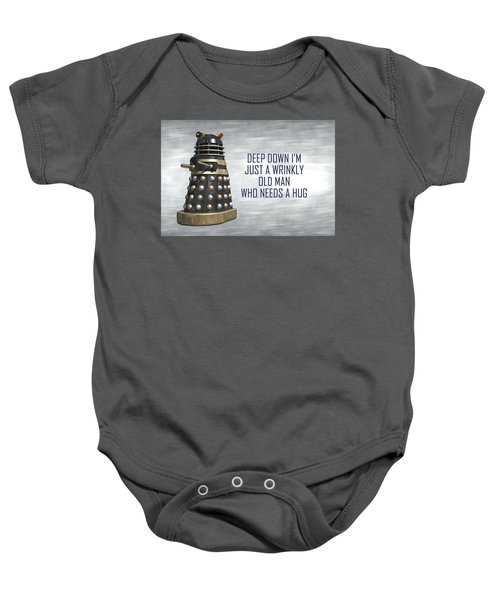 A Wrinkly Old Man Who Just Needs A Hug Baby Onesie