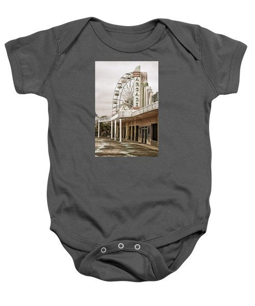 Abandoned Arcade And Ferris Wheel Baby Onesie