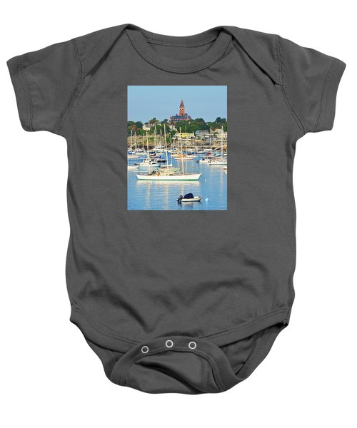 Abbot Hall Over Marblehead Harbor From Chandler Hovey Park Baby Onesie